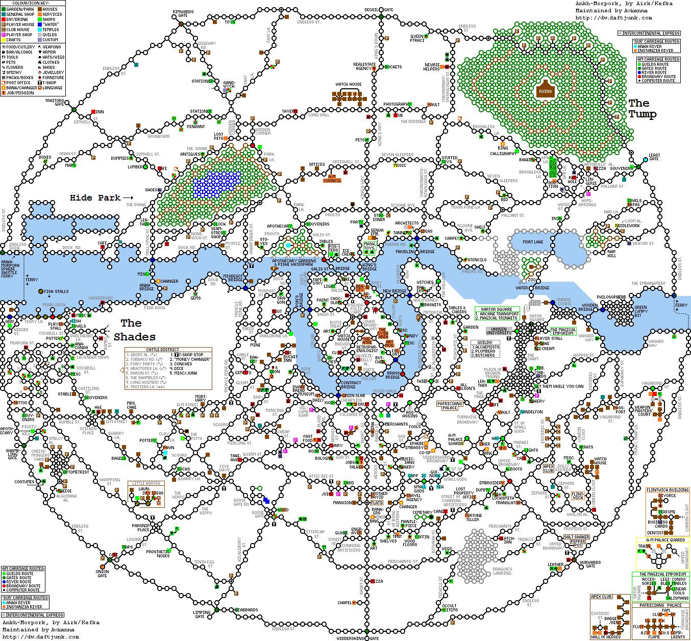 Ankh Morpork Map Kefka's Discworld MUD Maps